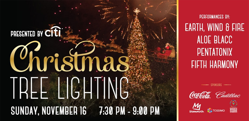 Christmas Tree Lighting Hollywood CA